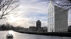 Dus Architects la casa stampata in 3d sui canali di Amsterdam 01