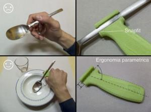 Ausilio per cucchiaio stampato in 3d
