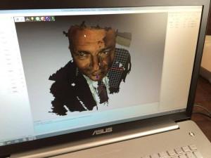 Matteo Renzi stampato in 3d al maker faire di Roma 01