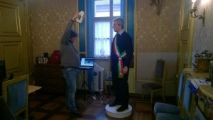 Il sindaco di Cuneo Federico Borgna stampa 3d