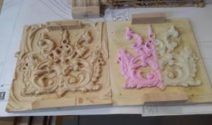 boiserie stampa 3d e risultato su legno