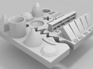 Test per stampanti 3d oggetto complesso e completo 02
