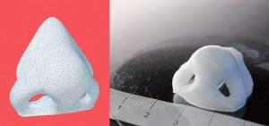 naso stampato in 3d