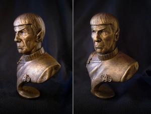 Leonard Nimoy Busto stampato in 3d da Phi Vu 04