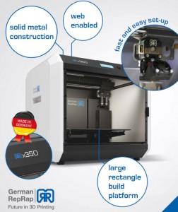German RepRap la stampante X350 3D 05