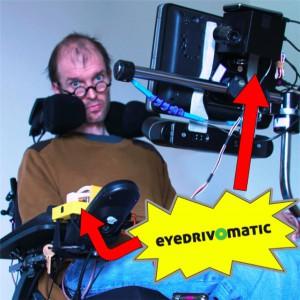 Patrick Joyce ammalato di SLa e Maker  e il sistema eye tracking per controllare con lo sguardo la sedia a rotelle 06