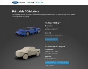 Modellini auto Ford da stampare in 3d 02