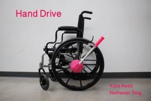HandDrive per muovere a remi la sedia a rotelle grazie alla stampa 3d 04