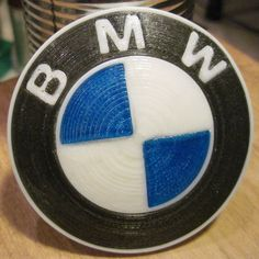 bmw logo stampato in 3d