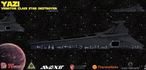 Star wars Destroyer case di computer Yazi stampato in 3d 08