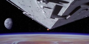 lo star destroyer originale nella scena di apertura di guerre stellari