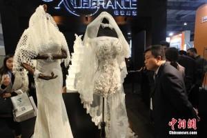 Xuberance abito da sposa stampato in 3d