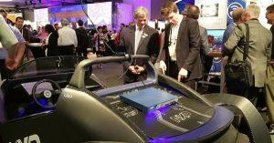 Local Motors Strati a guida autonoma con sistema La Strati della Local Motors con la guida autonoma grazie al sistema NXP BlueBox 03
