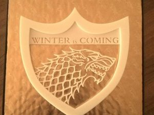 il trono di spade  stark motto e stemma Winter is coming