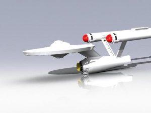 bellissimo modellino della enterprise classica