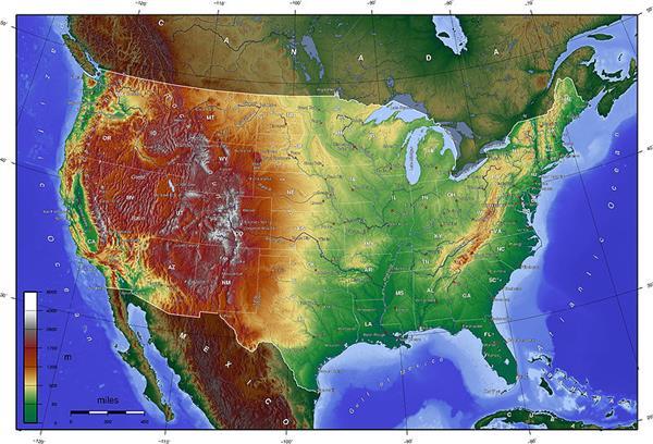 La Cartina Geografica Degli Stati Uniti.Come Stampare In 3d Una Cartina Geografica Degli Stati Uniti 2 Stampare In 3d